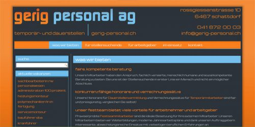 Webdesign Gerig Personal AG by fabpho.ch